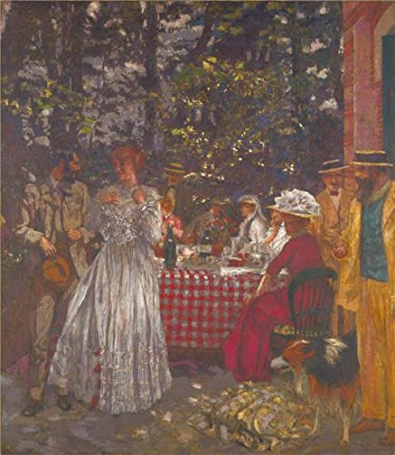 Oil Painting 'Edouard Vuillard - The Terrace At Vasouy, The Lunch,1901, Reworked 1935' Printing On Perfect Effect Canvas , 8x9 Inch / 20x23 Cm ,the Best Kids Room Decoration And Home Gallery Art And Gifts Is This Best Price Art (Gallery Lunch Tote)