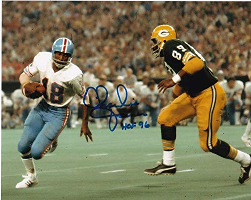 (Signed Charlie Joiner Photo - HOF 96 8x10 - Autographed NFL Photos)