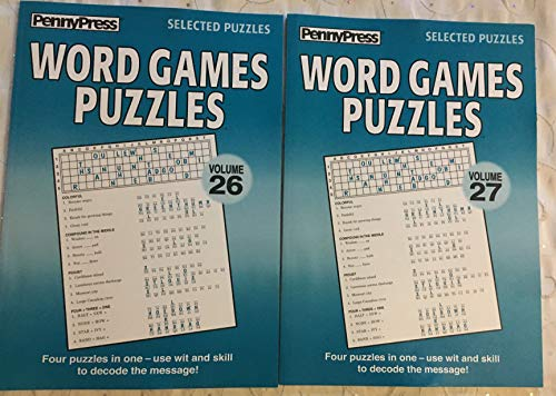 (Lot of (2) Penny Press Selected Puzzles Word Game Puzzles *Volume 26 & 27*)