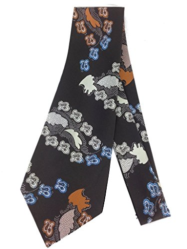 (Abstract Paisley Vintage Tie - Jacquard Weave Wide Kipper Necktie)
