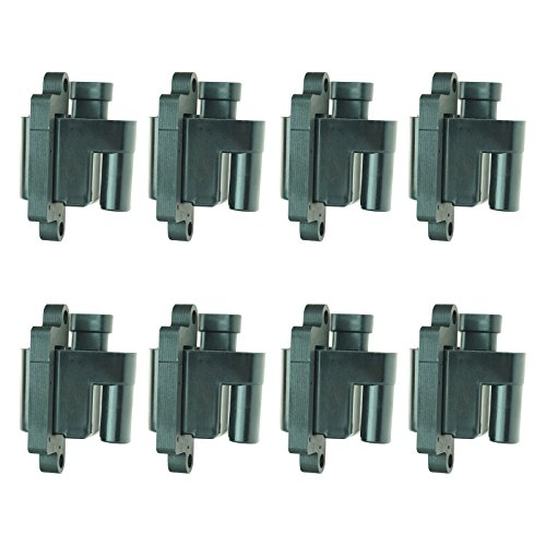 (Square Ignition Coil 8 Piece Kit Set for Chevy Silverado GMC Pickup Truck V8 )