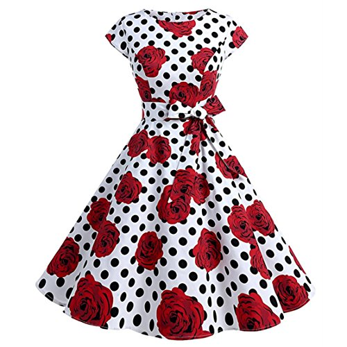 Sumuya Damen Kleid Mehrfarbig Mehrfarbig Color1-l FOms7sWZ
