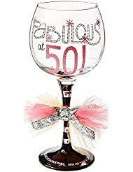 Mud Pie Fabulous at 50 Wine Glass