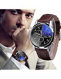 Fashion Mens FEITONG Blue Ray Glass Quartz Watches
