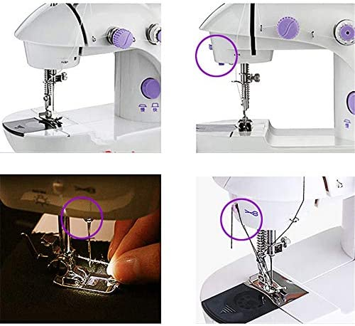 ZIJIAGE Mini máquinas de Coser portátiles de Mano Puntada Coser ...