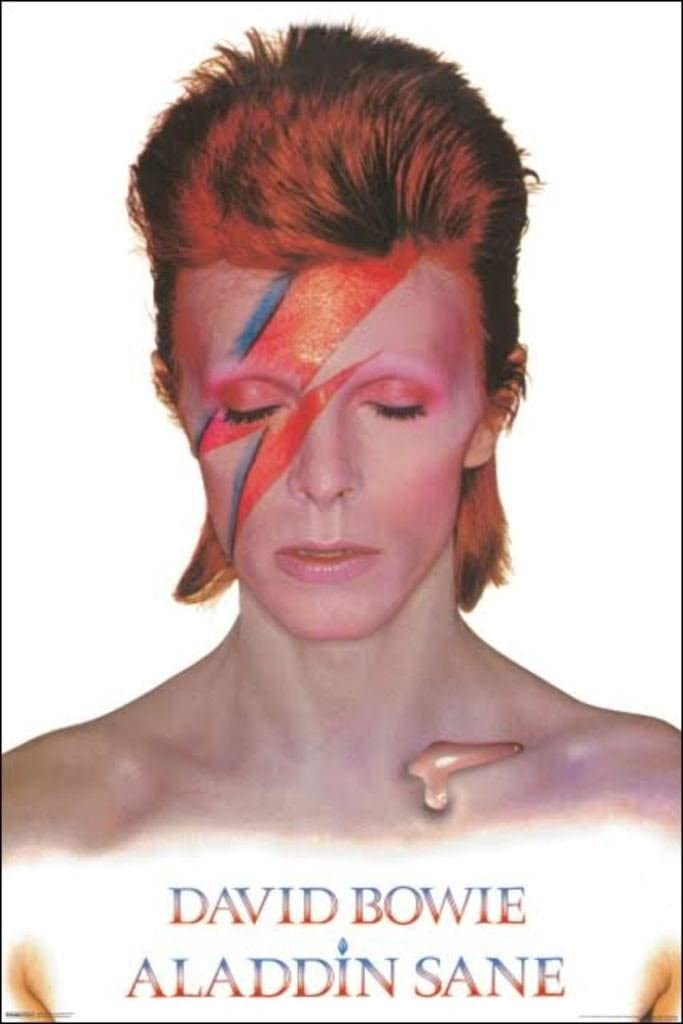 Amazon Com David Bowie Aladdin Sane Wall Art 24 X 36 Multicolor Wall Art