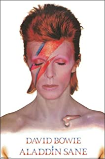 "product image for ""David Bowie-Aladdin Sane"" Wall Art, 24"" x 36"", Multicolor"