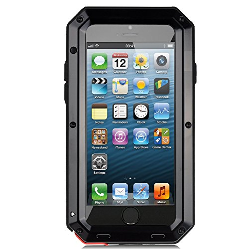 separation shoes cc041 b3a3a iPhone 5/5S Case, Tomplus Extreme Hard Military Heavy Aluminum Metal Armor  Tank Gorilla Glass Shockproof Rainproof Water Resistant Weatherproof ...