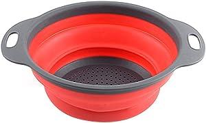 YHCWJZP Washing Basket, Folding Vegetable Fruit Washing Basket Drain Strainer Colander Kitchen Utensil Kitchen Tools Kitchen Supplies