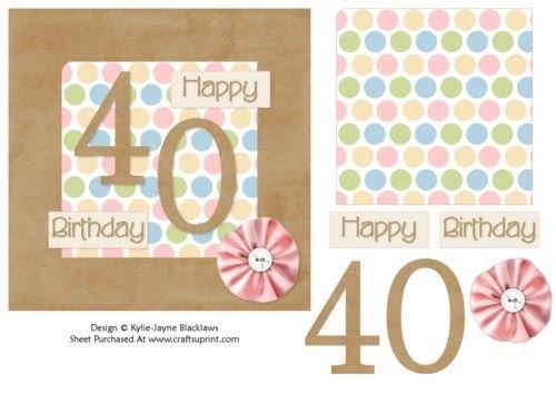 Hembra de lunares - 40th Tarjeta de cumpleaños por Kylie ...