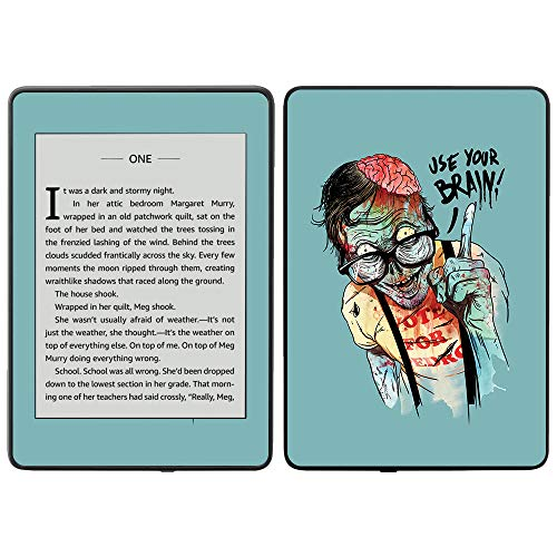 MightySkins Skin for Amazon Kindle Paperwhite 2018 (Waterproof Model) - Use Your Brain | Protective, Durable, and Unique Vinyl Decal wrap Cover | Easy to Apply, Remove| Made in The USA for $<!--$12.99-->