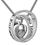 Eternally Loved No longer by my side forever in my heart carved locket cremation Urn necklace for mom   dad Mom