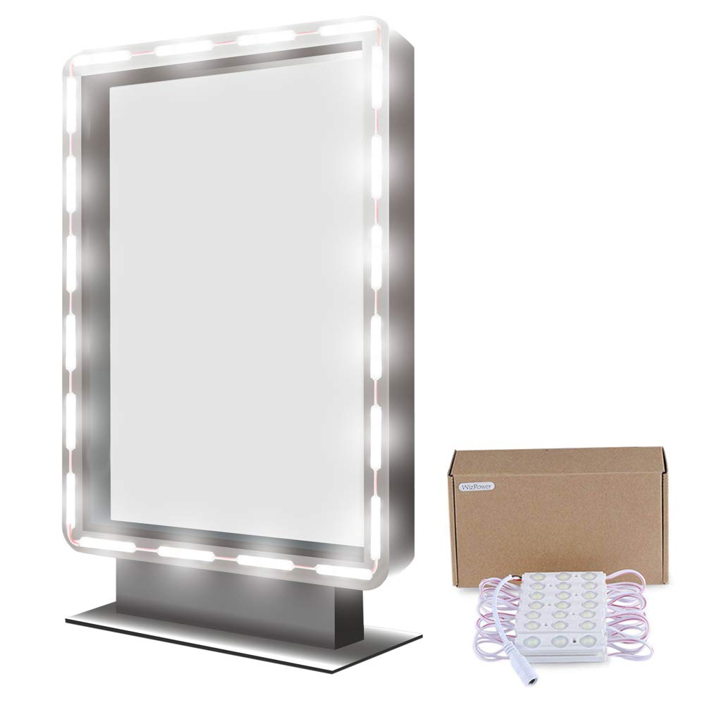 Makeup Mirror Light, 9.8FT 60 LED Vanity Mirror Lights Kits for Cosmetic Makeup Vanity Mirror with Power Supply and Touch Dimmer Switch WizPower