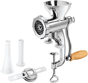 Metaltex Jack Meat Nut and Vegetable Mincer with Attachments, 10 x 14 x 26.5 cm, Silver