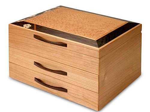 Heartwood Creations Cherry Blossom Jewelry Box - 2 Drawer (Rockford Cherry)