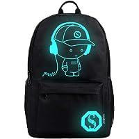 Backpack Anime Luminous Teenagers Men Women's Student Cartoon School Bags Casual Travel Bag Glow in the Dark Style 1