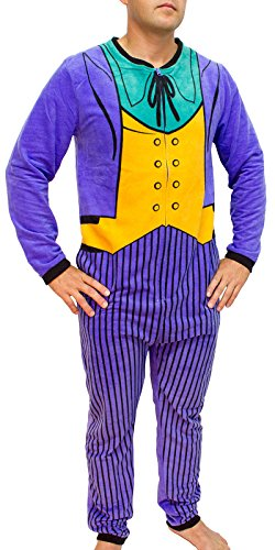 DC Comics The Joker Purple Costume Adult Union Suit -