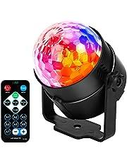 JYX Sound Activated Dicso Light met afstandsbediening, USB DJ Light, Disco Ball, Strobe Lamp 7 Modes Stage Par Light voor Home Dansfeesten, Verjaardag/DJ Bar Karaoke