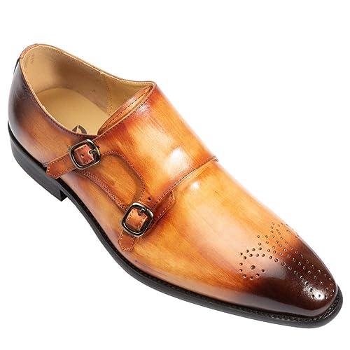 Zapatos de Negocios Hechos a Mano de Oficina Traje de Boda ...