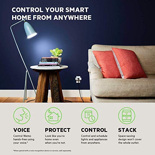 Wemo Mini Smart Plug, Wi-Fi Enabled, Compatible with Alexa (F7C063-RM2) (6 pack)(Certified Refurbished) by WeMo (Image #1)