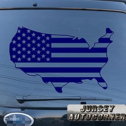 US American Map States Decal Sticker Car Vinyl pick size color die cut no bkgrd