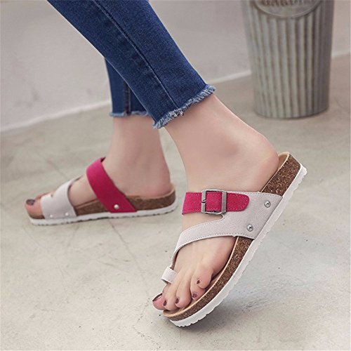 YUCH Occasionnels Ladies' Mred de Quotidienne Plage Chaussons Chaussures gFUq4ngZ