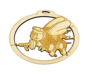 US NAVY Seabee Ornament - US Navy Ornaments - Navy Gifts - Military Gift