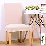 Wall of Dragon Comwarm Solid Color Spandex Stretch Knitting Office Chair Cover Durable Chair Protective Case Slipcover Dining Hotel Seat Cover