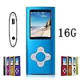 G.G.Martinsen Plum Button 1.78 LCD MP3/MP4 16 GB Portable MP3Player , MP4 Player , Video Player , Music Player , Media Player , Audio Player (Blue)