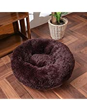 Thick Cutton Round Dog Bed Super Soft Long Plush pet cat mat for Dogs nest Cushion Bed Winter Warm Pets Sofa Dog Kennel Sleep Safe