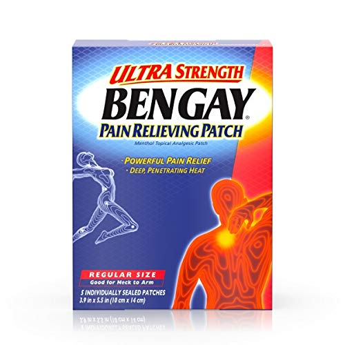 (BENGAY Pain Relieving Patches Ultra Strength Regular Size 5 Each (Pack of)