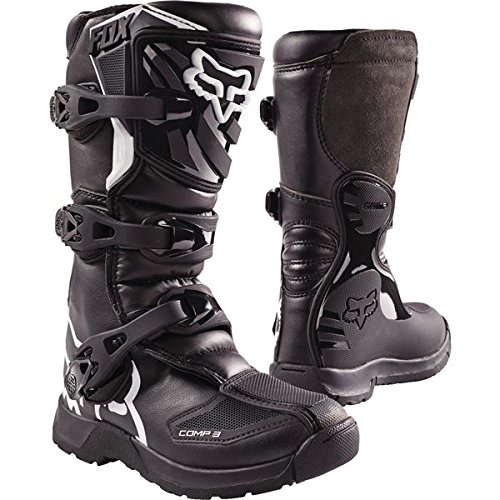Fox Racing 2018 Youth Comp 3 Boots (3) (BLACK)
