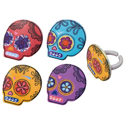 Day of the Dead Cupcake Rings - 24 pc