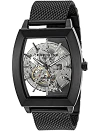 Men's Japanese Automatic Stainless Steel Dress Watch, Color:Black (Model: 10031270)