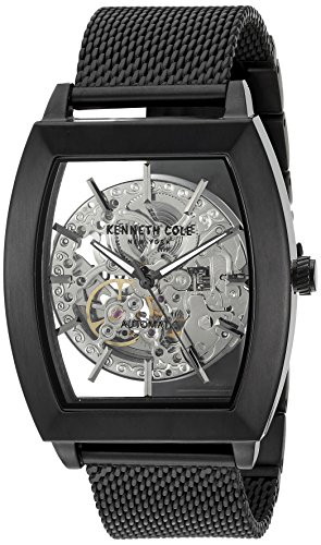 Kenneth Cole New York Men's ' Japanese Automatic Stainless Steel Dress Watch, Color:Black (Model: 10031270) (Watch Kenneth Cole Men Skeleton)