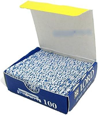 100 x Medias Hojas Hojillas Cuchillas para Navaja o Rasuradora de Afeitar L100B: Amazon.es: Salud y cuidado personal