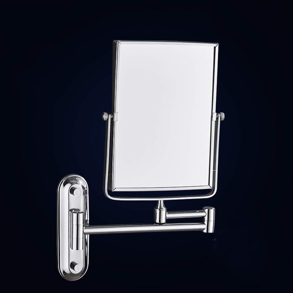 KELE Golpe Libre Hotel Bantilde;o Espejo tocador de de de Pared Espejo de Maquillaje Espejo de Doble Cara Extensible Free Standing Cuadrado Plegable Espejo de Belleza-La Plata f490ad