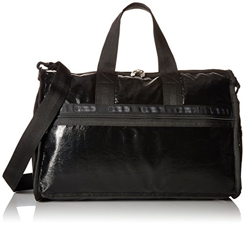 Classic Medium Weekender Duffle Bag, BLACK CRINKLE PATENT, One Size
