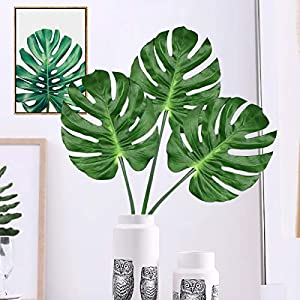 Yinhua Palm Leaves Tropical Leaf Artificial Leaves Monstera Tropical Leaves Decoration 66