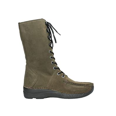 32ecf2ce664c77 Wolky Comfort Halbhohe Stiefel Roll Fashion - 40155 Taupe Veloursleder - 36