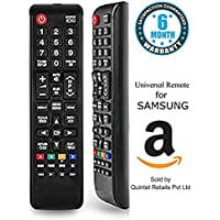 Quintet Universal Remote for Samsung Remote Control with Dual Sensor Technology for LED/LCD/Plasma TV (Black)