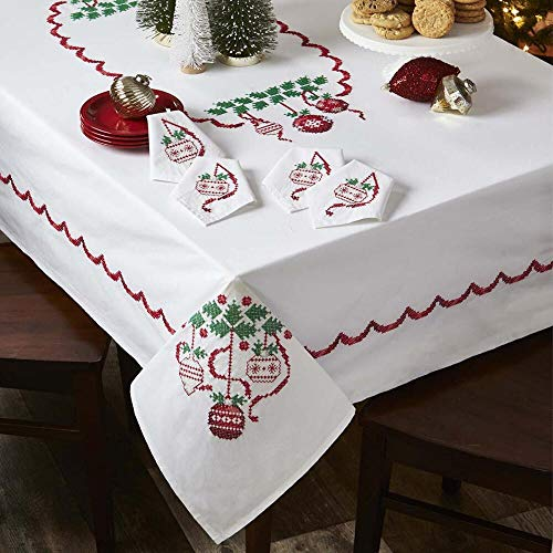 (Herrschners® Deck The Halls Table Linens Stamped Cross-Stitch)