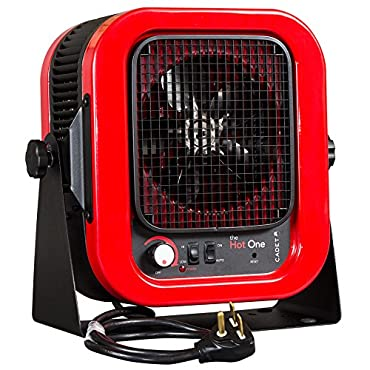 The Hot One 5000-Watt 240-Volt Electric Garage Portable Heater, Red/Black (10289)