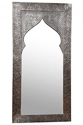 Espejo de pared oriental Jamal, 160 cm, plateado, gran ...