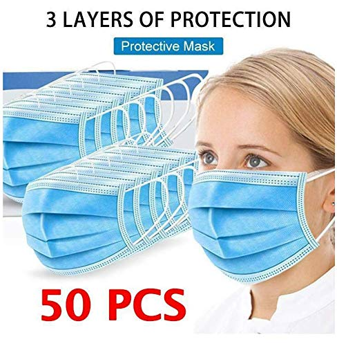 K Mart 50 Pcs Pack Surgical Face Masks 3 Ply 3 Layers Sealed Box Breathing Protection Health And Beautician Care Hygienic Face Masks