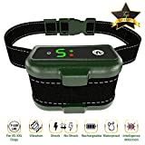 Training Dog Collar - [NEWEST 2018] RECHARGEABLE Bark Collar - Smart Detection Chip - Dual Stop Anti Barking Modes: Beep/Vibration, Shock for Small, Medium, Large Dogs - IPx7 Waterproof - No Bark Safe Training