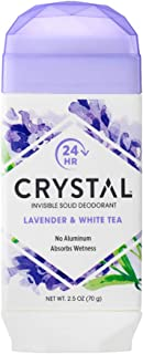 product image for Crystal Aluminum-free, Absorbs Wetness Natural Deodorant, Lavender & White Tea, 2.5 Oz