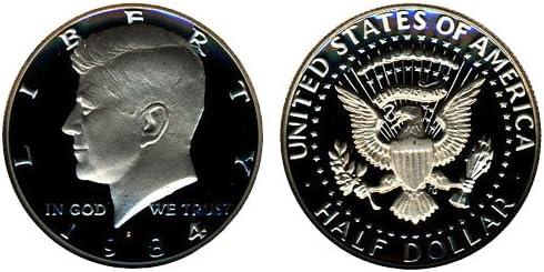 1984 S KENNEDY HALF DOLLAR GEM DEEP CAMEO PROOF US COIN