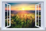 landscape design pictures BANBERRY DESIGNS Landscape Canvas Print - LED Lighted Picture with a Mountain Sunset Scene - Landscapes Wall Art