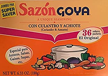 Goya Sazon Con Culantro Y Achiote (2 Pack SUPER SAVER) 6.33oz Each Super